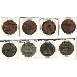 Nancy Huard Medals; 1985 Canada's National Parks Centennial copper plated, 1985 24 June Le Québec en