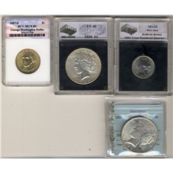 United States 25 Cents 2004 Texas NGS MS-65, 1 Dollar 1926 NGS EF-40, 1 Dollar 1923 CCCS MS-60, 1 Do