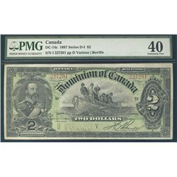 1897 Dominion Bank of Canada; 2 Dollar, PMG CH EF-40, Charlton DC-14c, 227201.  Sharp and attractive