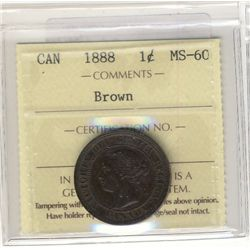 Cent 1888 ICCS MS60 Brown.