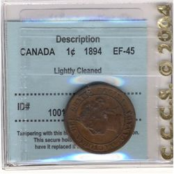 Cents 1894, CCCS EF-45; Lightly cleaned.