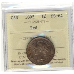 Cent 1895, ICCS MS-64; Red.