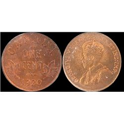 Cents 1920, ICCS MS65; Red, Small.