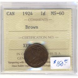 Cent 1924, ICCS MS-60; Brown.