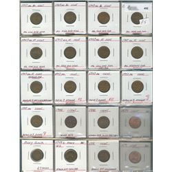 Cents 1937 to  1947.  Large lot that includes numerous varieties, die strikes & planchet flaws. 171