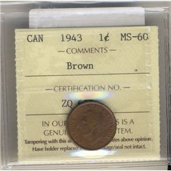 Cent 1943 ICCS MS60 Brown.