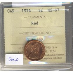 Cent 1974, ICCS MS67; Red.
