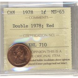 Cent 1978, ICCS MS65; Red Double 1978.