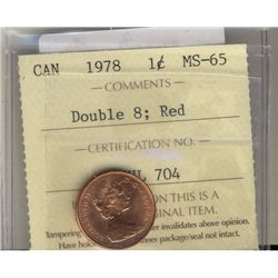 Cent 1978, ICCS MS65; Red Double 8.
