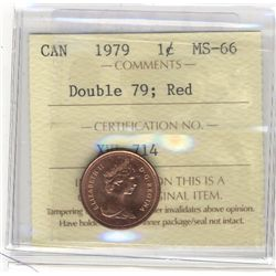 Cent 1979, ICCS MS66; Red Double 79.