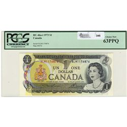 1973 Bank of Canada; 1 Dollars Choice UNC-63, BC-46a-i #ALM1176876.