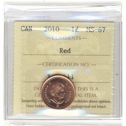 Cent 2010, ICCS MS-67; Red.