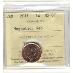 Cent 2011, ICCS MS-67; Red.