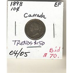10 Cents 1898 EF.