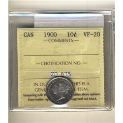 10 Cents 1900 ICCS VF20.