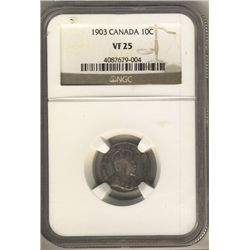 10 Cents 1903, NGC VF-25.