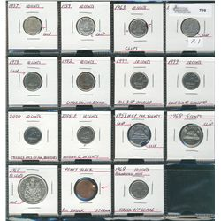 10 Cents 1957 to 2005,  Lot of 8 coins all with varieties., mainly clipped planchets, does include 1