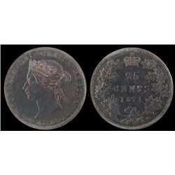 25 Cents 1871, ICCS MS-64; Obv 2.