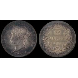 25 Cents 1894, ICCS MS64.  Grey tones and lustre.