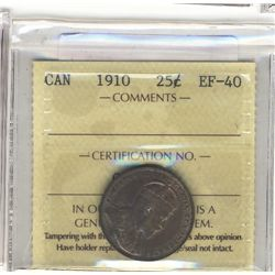25 Cents 1907 VF+.