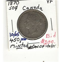 50 Cents 1870 VF.