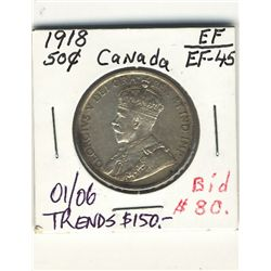 50 Cents 1918 EF.