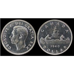 1 Dollar 1948, ICCS MS-64.  Lustre and white.