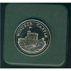 The Tower Mint; lot of 4 medals in their original casing; Castle Conwy, Windsor Castle, The Tower of