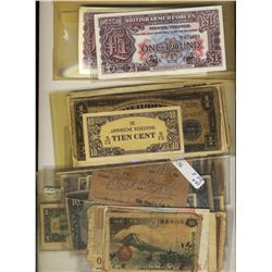 World Banknotes; Great Britain British Armed Forces 85 notes (3 diff types), Japanese Gov't notes, F