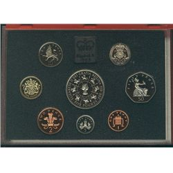 1993 Great Britain Proof Set in Deluxe case (red) 8 coins.