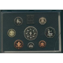 1993 Great Britain Proof Set in Standard case (blue) 8 coins.