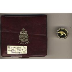 1988 Canada; $100 Gold coin, in original case & 1975 Double Penny Set in presentation case.