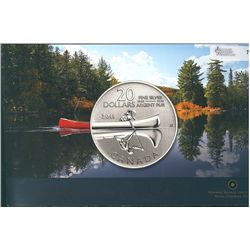 2011 20 Dollars for $20.00 9999 Fine Silver Canoe in RCM package. Package of 2 coins.