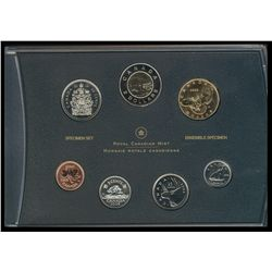 Canada 2006 Specimen Set, With Titanium 2 Dollar coin;  Original box and elemental Analysis confirmi