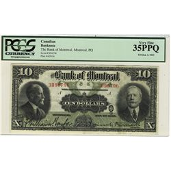 The Bank of Montreal 1923 10 Dollars #3096796 CH-505-56-04 PCGS VF35PPQ.