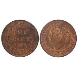 1859 1 Cent ICCS MS64; Red 1 Cent Nar 9 repunched 85.