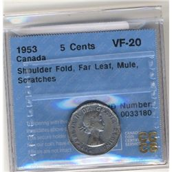 1953 SF FL Mule CCCS VF20.  Scratches.