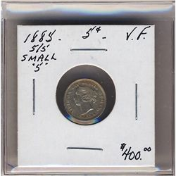1885 5 Cents 5/5 Sml 5 ICCS VF. .
