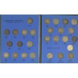 1910 to 1969 25 Cents;  2 Blue Whitman folders 1911-1952 incomplete & 1953-1969 complete. Missing 19