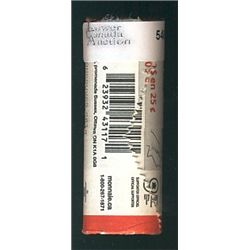 1 roll of 25 Cents 2007 Ice Hockey, Olympic Series in original wrapper from the RCM.