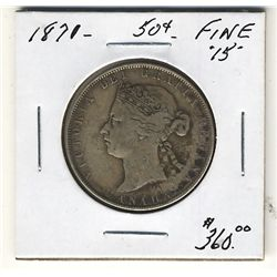 1871 50 Cents F15. .