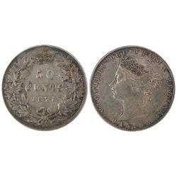 1871H 50 Cents VF30. .