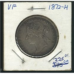 1872H 50 Cents; VF.