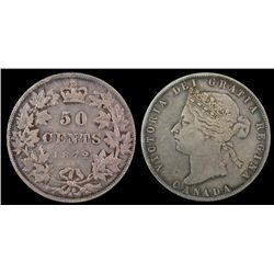 1872H 50 Cents EF.
