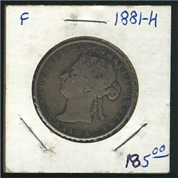 1881H 50 Cents; F.