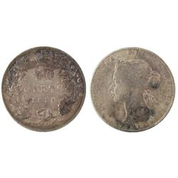 1888 50 Cents Abt VF example. .