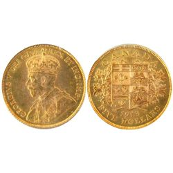 1913 5 Dollars Gold , PCGS MS-64. Very strong lustre.