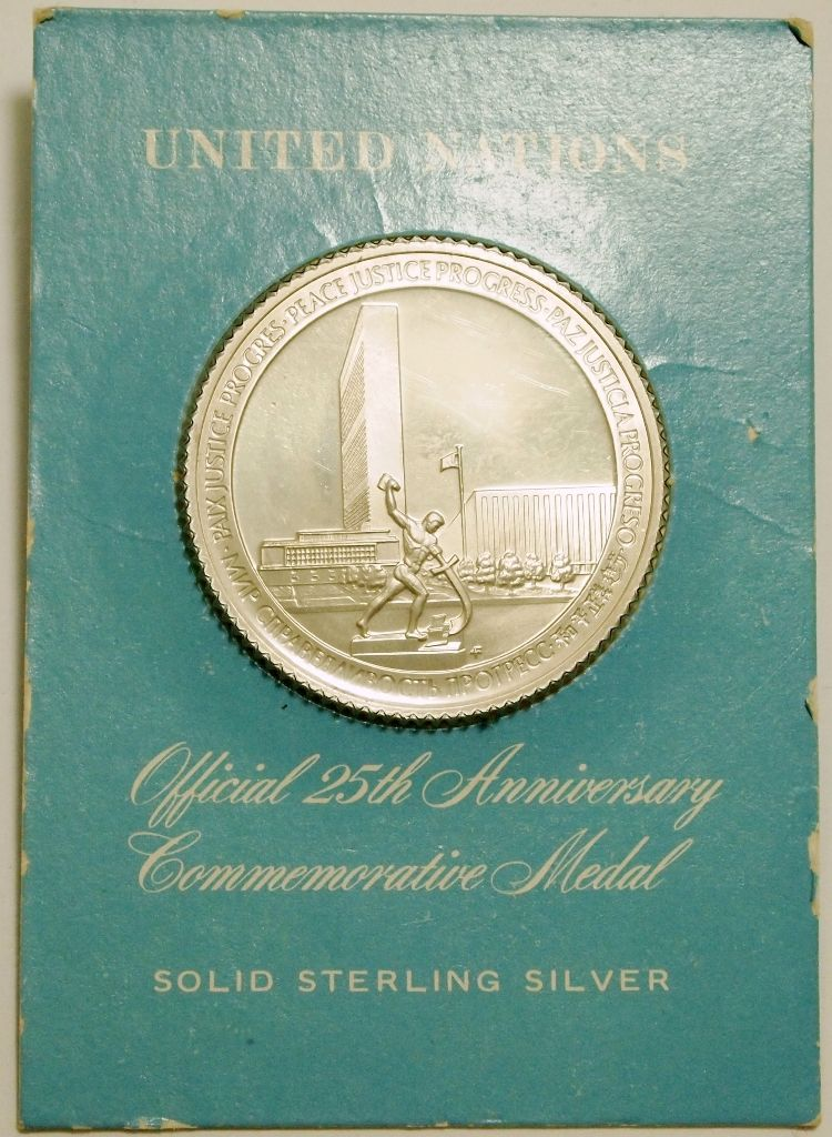 Non Native Sterling Silver United Nations Official 25th