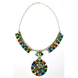 Navajo Multi-Stone Sterling Silver Necklace - Juliana Williams