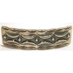 Navajo Sterling Silver Hair Barrette - Tim Yazzie